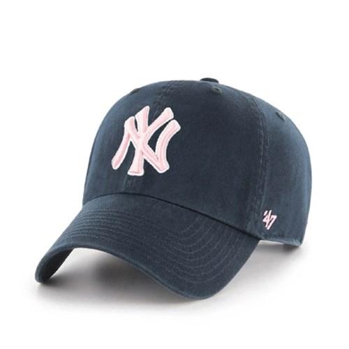 47브랜드 MLB모자 양키즈 네이비 핑크빅로고
