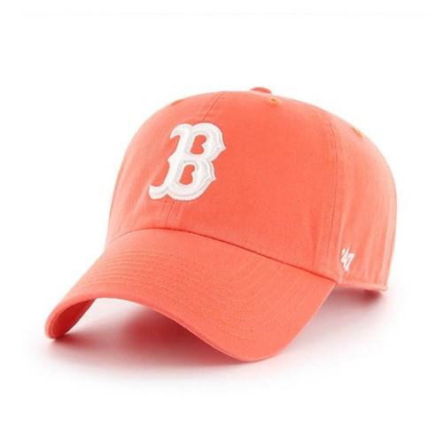 47브랜드 MLB모자 보스톤 레드삭스 자몽 화이트빅로고