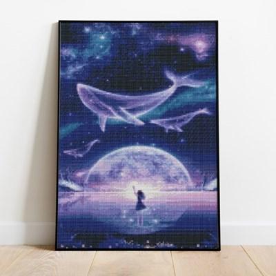 보석십자수 고래의 꿈 DIY 픽스아트 큐빅 비즈 취미생활