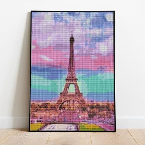 보석십자수 무지개 에펠탑 DIY 픽스아트 큐빅 비즈 취미
