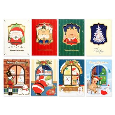 1500 크리스마스 카드2(세트/8개)