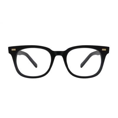 Slee BLACK 오버사이즈 스퀘어 뿔테 안경