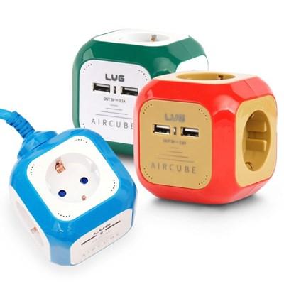 러그 고용량 멀티탭 에어큐브 4구 USB 3m 콘센트_(892202)