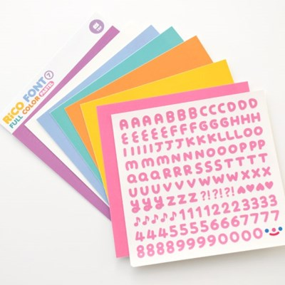 RiCO FONT FULL COLOR - PASTEL