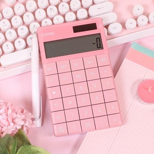 핑크 디자인 전자 계산기 [갓샵 사무용 미니 심플 컬러 무지계산기]