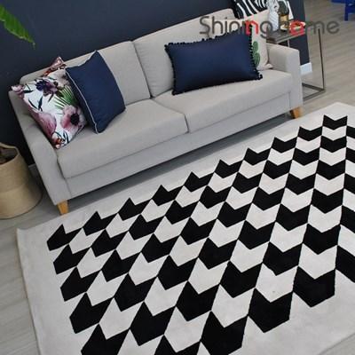 샤인러그 하운드 거실카페트 150x235 아이보리+블랙