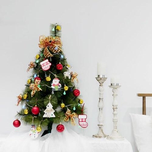 [비솜] 미니멀한 크리스마스 파인트리90cm세트 미니트리 탁상트리