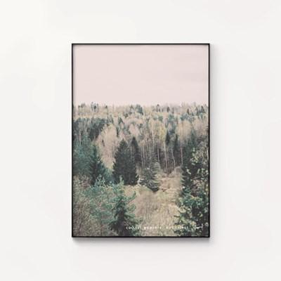 메탈 모던 풍경 숲 인테리어 사진 액자 포레스트 ver1
