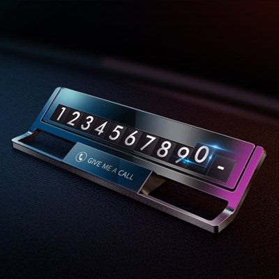스마텍스 메탈 회전식 자동차 주차 번호판 차량용 전화 번호 알림판