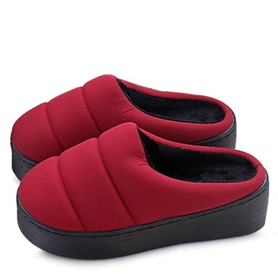 kami et muse Padding fur tall up slippers_KM20w169
