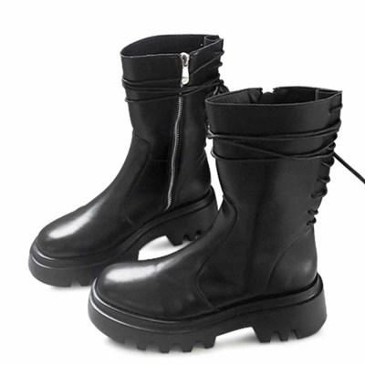 kami et muse Back strap platform middle boots_KM20w174