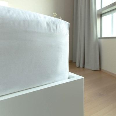 [화이트리퍼블릭]Duke Fitted Sheet - White Q