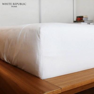[화이트리퍼블릭] 80수 시그니쳐 호텔 매트리스커버 White (SS,Q,K)