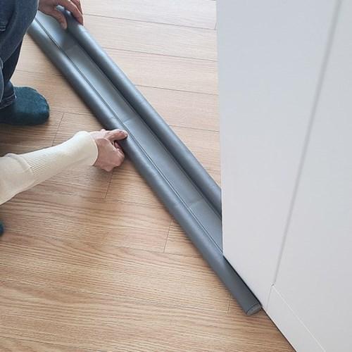 레더커버 듀얼폼 외풍차단 문틈막이 96cm