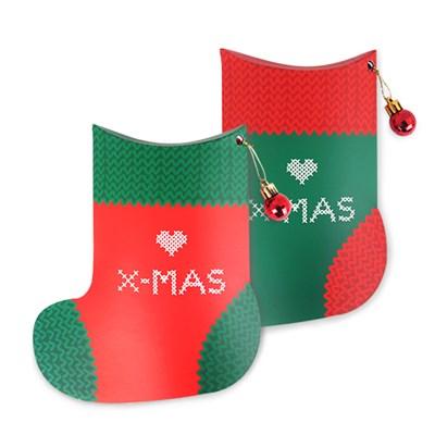 산타가 직접 짠 크리스마스 양말 상자 (2개)
