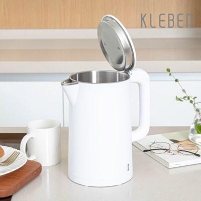 클리벤 이중단열 스테인레스 전기포트 KEK-1500W