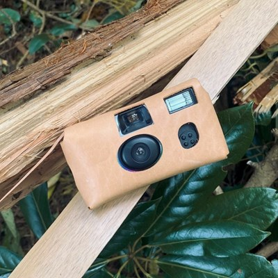 Disposable Camera leather Case_Beige