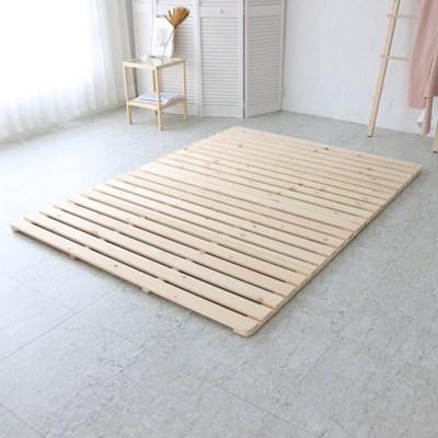 4단접이식 저상형 원목 침대프레임 퀸 매트리스깔판