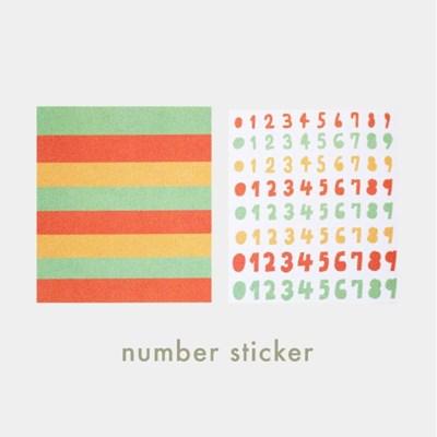 [sticker] number sticker