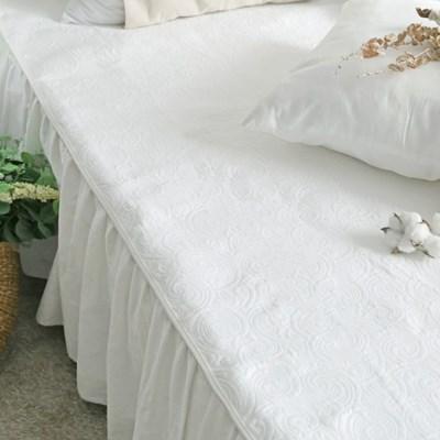 사계절 고급스러운 베일리 화이트 침대 패드 (SS/Q)