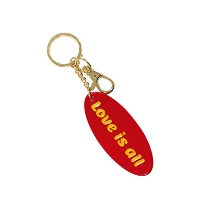 LOVE IS ALL KEYRING