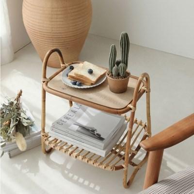 [아이니샵] 북유럽풍 라탄 거실 협탁 사이드 테이블_(280282)