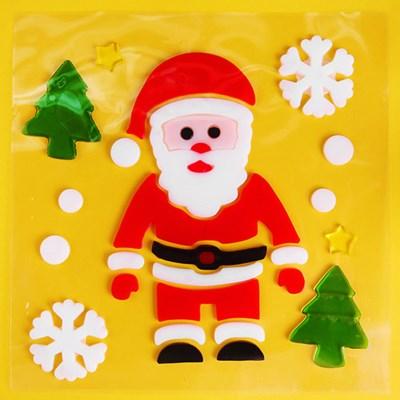 산타 유리장식 젤리스티커