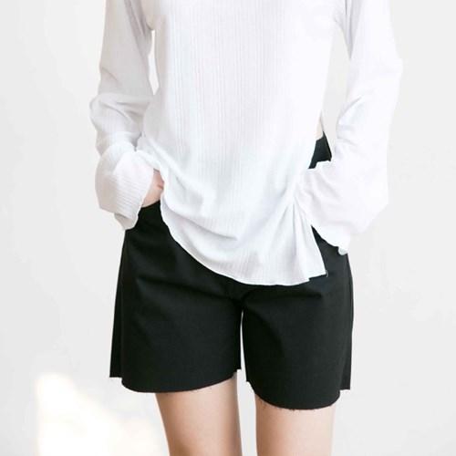 Denim Slit Short - Black