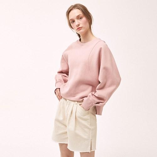 Two-Tuck Denim Shorts - Cream