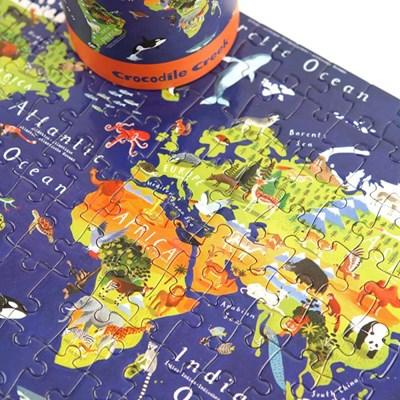 [크로커다일크릭] 세계지도 200피스 포스터 퍼즐 / 5세