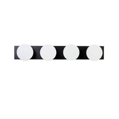우드 플랜 도트 벽장식 4P 코트훅 800-블랙앤화이트