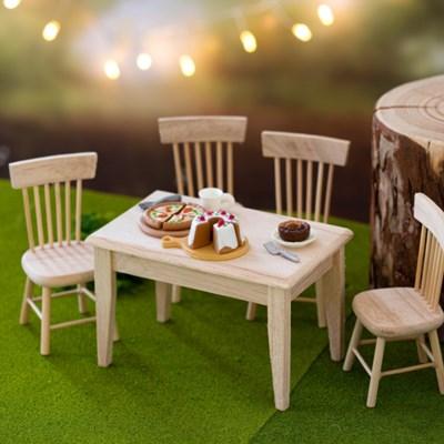 미니어처 원목 테이블