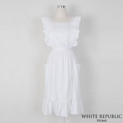 [화이트리퍼블릭]Charlet Ruffle Apron White