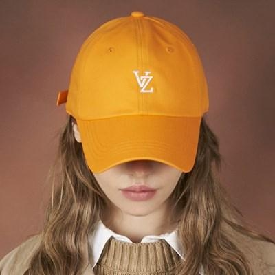 [바잘] 모노그램 소프트 오버핏 볼캡 오렌지