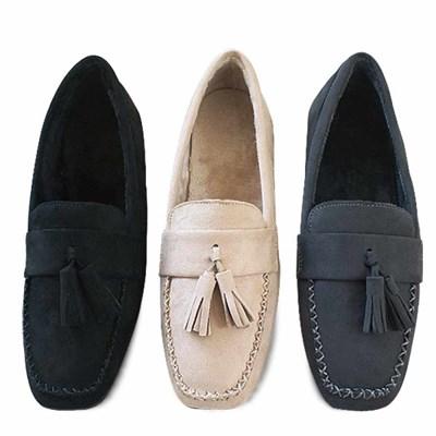 kami et muse Tessle & stitch fur loafers_KM20w184