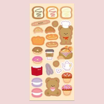 빵돌이 홀로그램 씰스티커