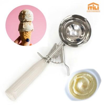 이딜리 아이스크림 스쿱 10호 스테인레스 셔터기 감자샐러드 스쿱