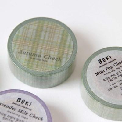 Autumn Check Masking Tape [Mint Fog]
