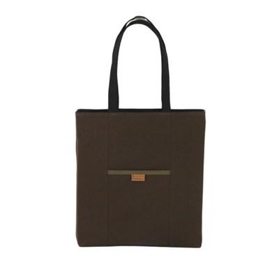 헤이플 리버시블 토트백 Reversible Totebag (brown/black)