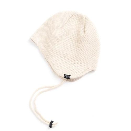 CASHMERE EAR FLAP BEANIE (IVORY)_(401201939)