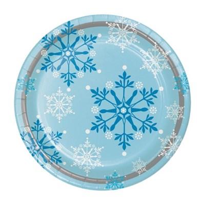 [빛나파티]겨울왕국 9인치(23cm) 종이접시 Snowflake Swirls Dinner