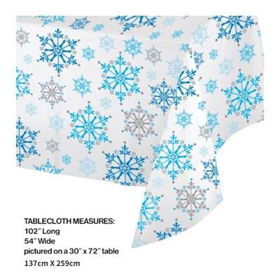 [빛나파티]겨울왕국 비닐 테이블커버 Snowflake Swirls Tablecover