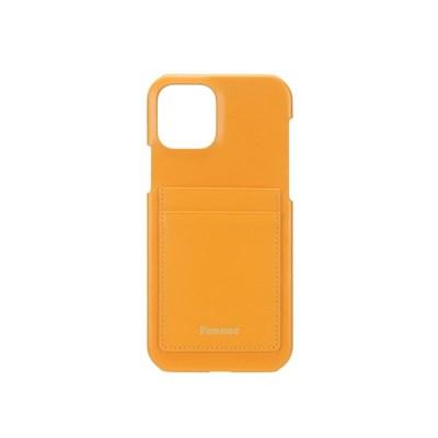 FENNEC LEATHER IPHONE 12/12 PRO CARD CASE - MANDARIN