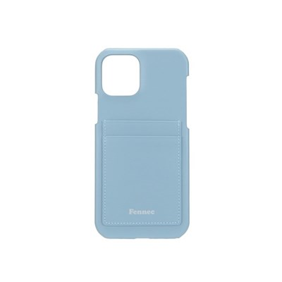 FENNEC LEATHER IPHONE 12/12 PRO CARD CASE - FOG BLUE