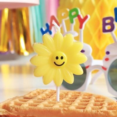 데이지스마일초 4개입 파티초 생일초 파티캔들