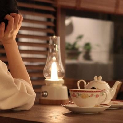 수련 [mong mong] 몽몽랜턴_인테리어 감성캠핑 LED 호롱유리관