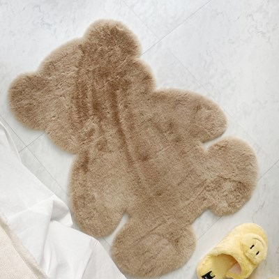 곰돌이 러그 테디베어 인조 사계절 침실러그 (4 types)