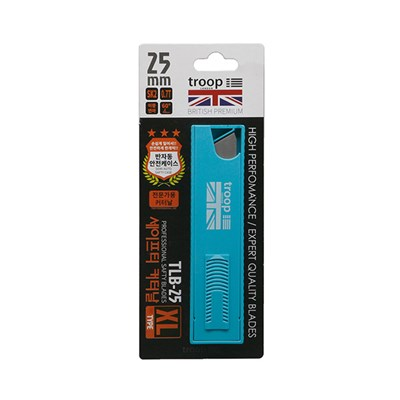 고탄소강 세이프티 커터 칼날 특대 25mm 0.7T 10개입