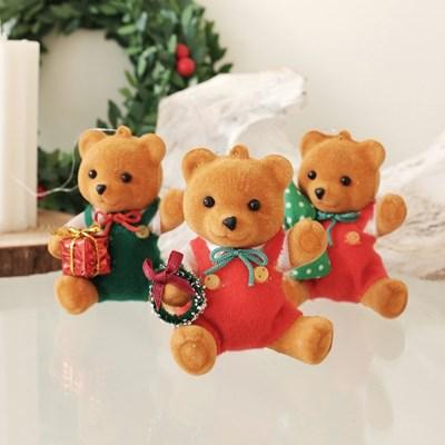 플리징 곰돌이 크리스마스 장식 오너먼트