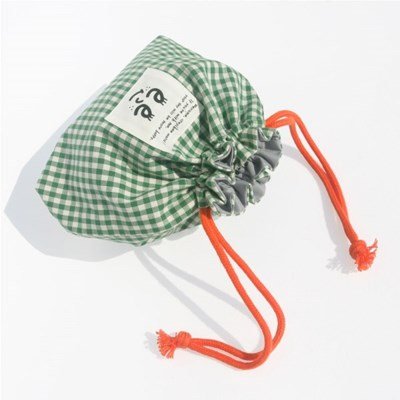 Check string pouch_Green